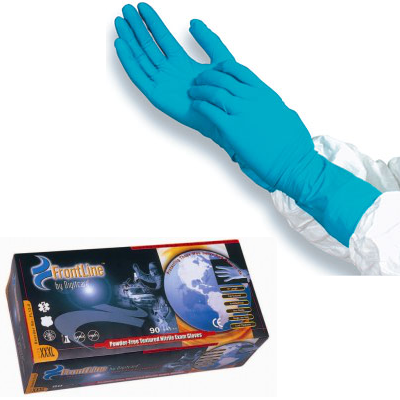 "12"" Long Cuff Blue Nitrile HI-Risk Glove"