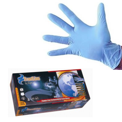 "9"" Long Cuff Blue Nitrile HI-Risk Glove"
