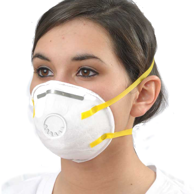 Deluxe N95 Disposable Dust and Mist Respirator w/Exhaust Valve