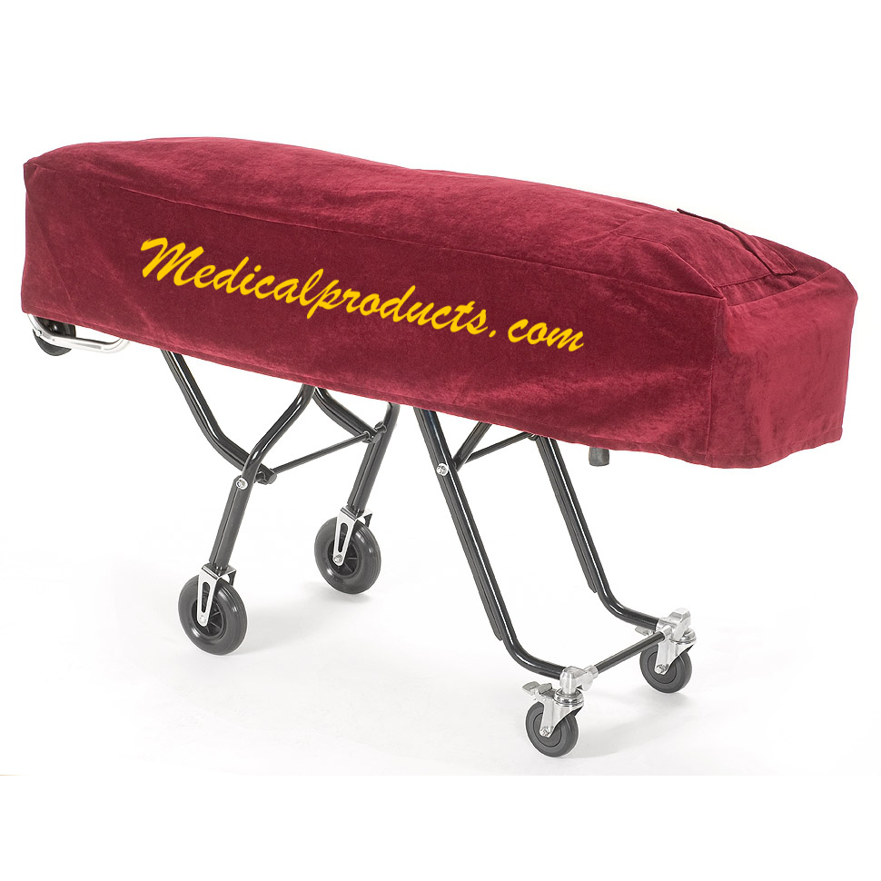 FirstCall Plush Fabric Cot Cover Burgundy