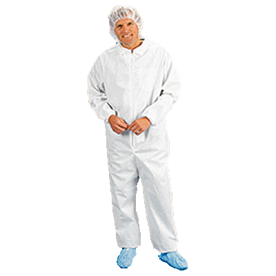 polypropylene coveralls with elastic wrist & ankles